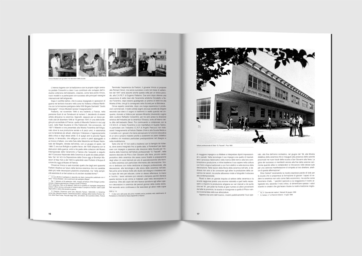 Monografia vinicio modesti progetto editoriale grafica for Istituto grafico pubblicitario milano