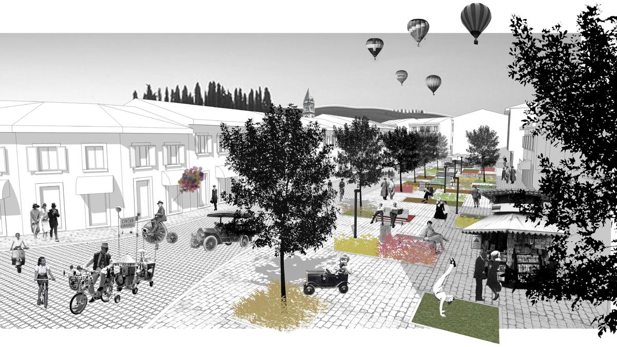 Riqualificazione, Centro Storico, Casciana Terme, concorso, deferrari modesti