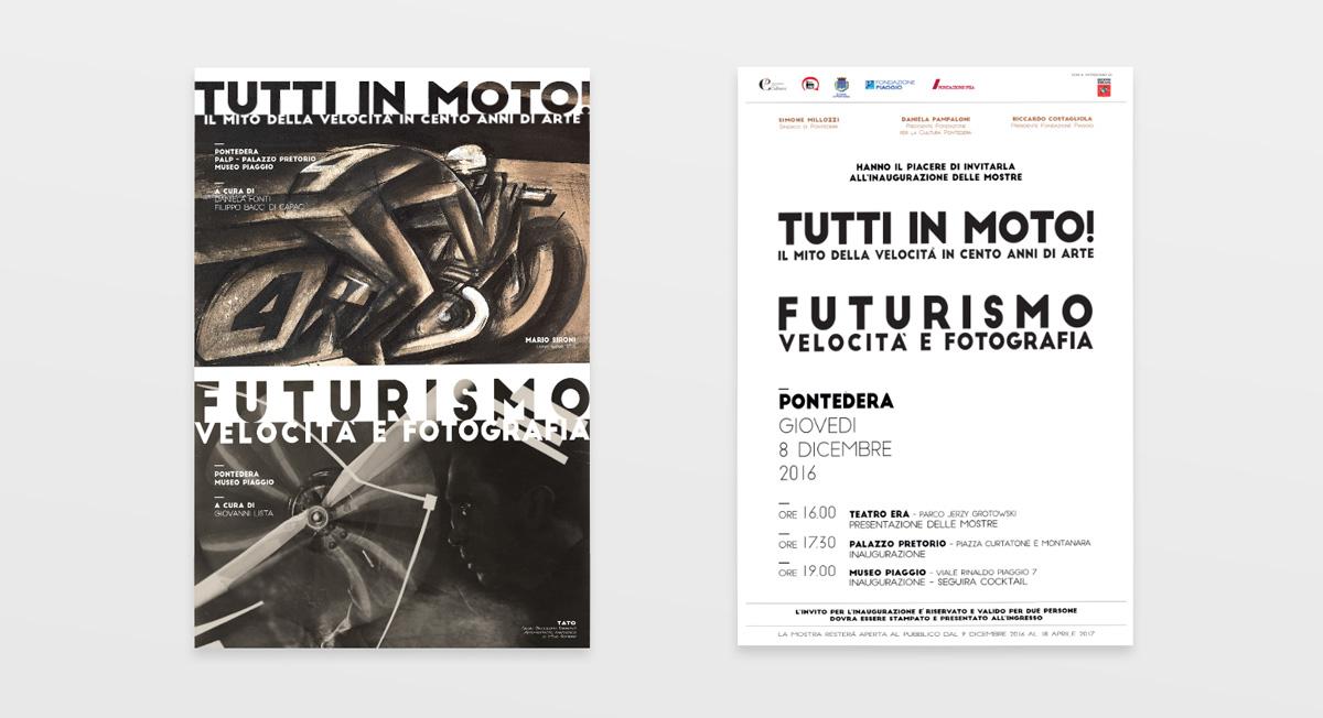 Invito Mostra, futurismo, tutti in moto!
