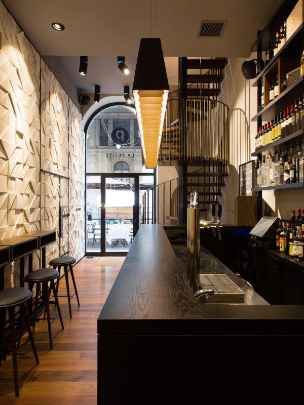 La Petite, Firenze, deferrari modesti, interni, bar ristorante