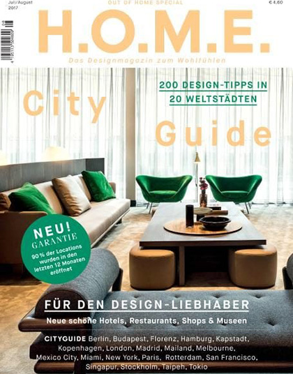 H.O.M.E. Germany July August 2017, magazine, cover, deferrari modesti