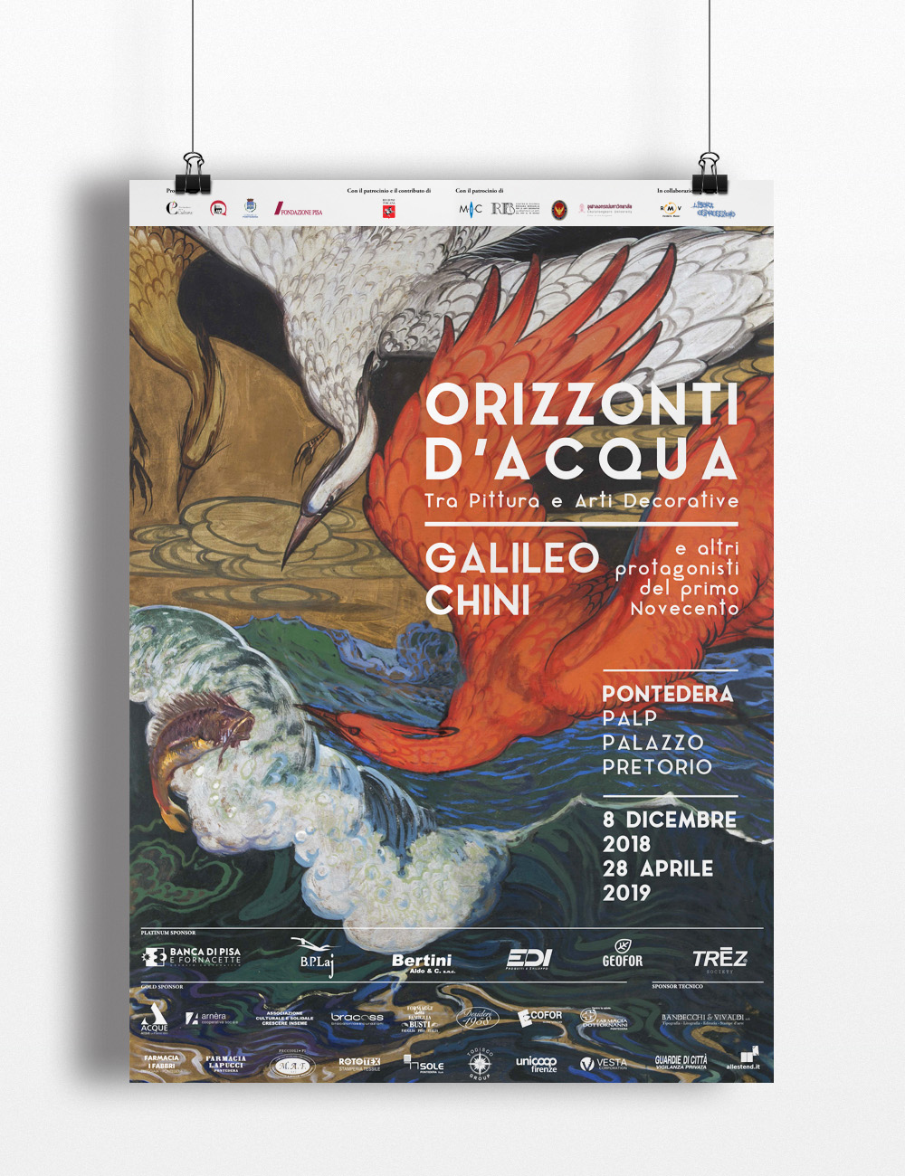 Manifesto Mostra, Galileo Chini, Palp, Pontedera, Design Deferrari modesti