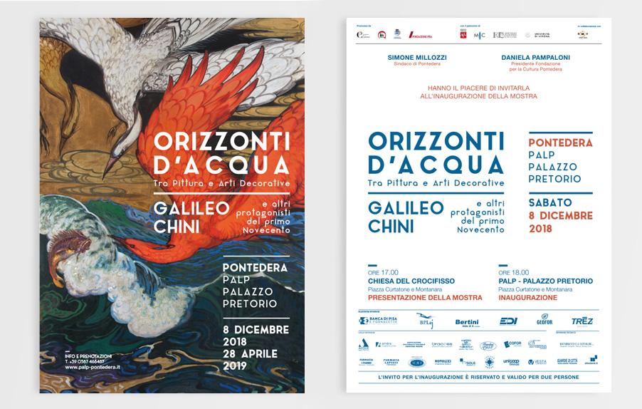 Invito Mostra, Galileo Chini, Palp, Pontedera, Design Deferrari modesti