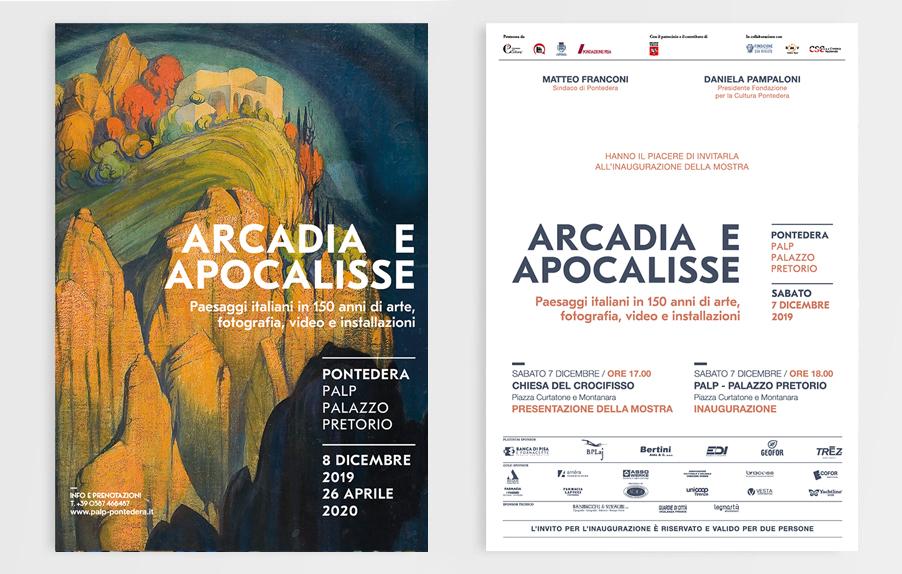 Arcadia Apocalisse, Palp, Pontedera, Design, Deferrari Modesti, Invito Mostra