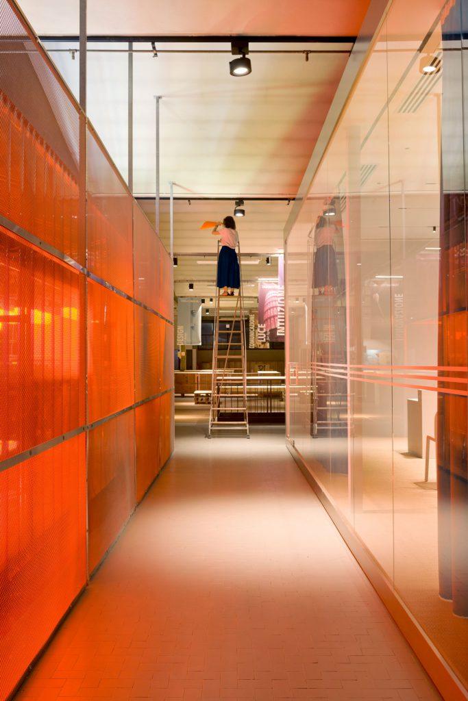 TH01, Targetti, HUB, Firenze, Florence, showroom, Allestimento, Interior Design Deferrari Modesti