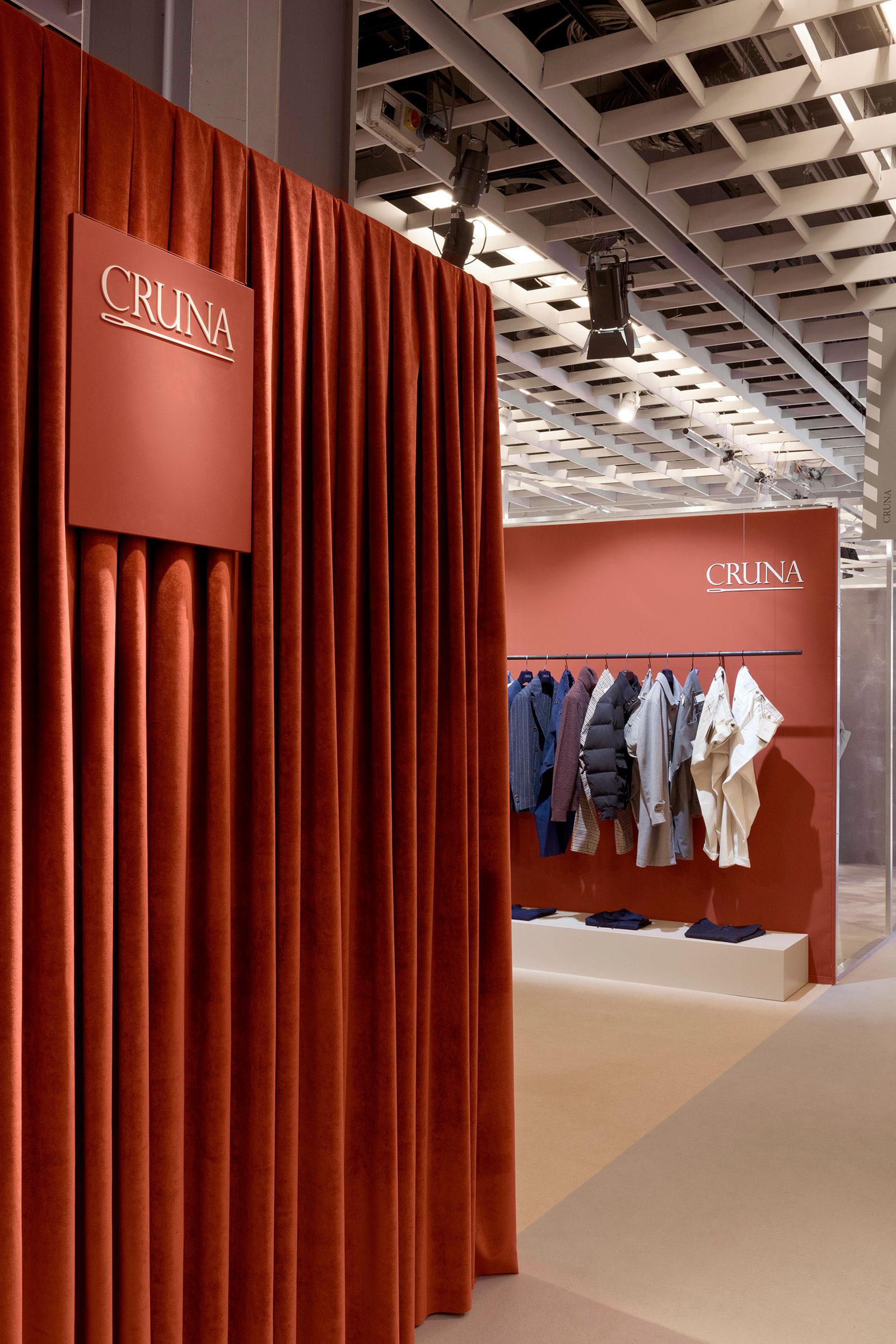 Cruna, Pitti Uomo 97, Fiera, Stand, Florence, Allestimento, Interior Design, Deferrari Modesti