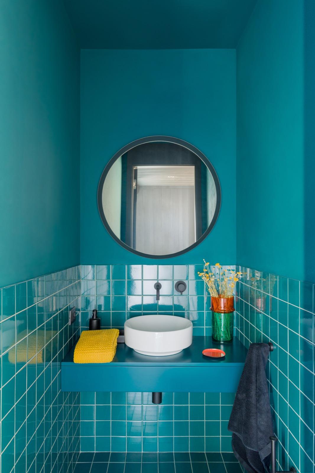 House LM, Brozzi, Firenze, Deferrari+Modesti, ristrutturazione, interior, bagno verde