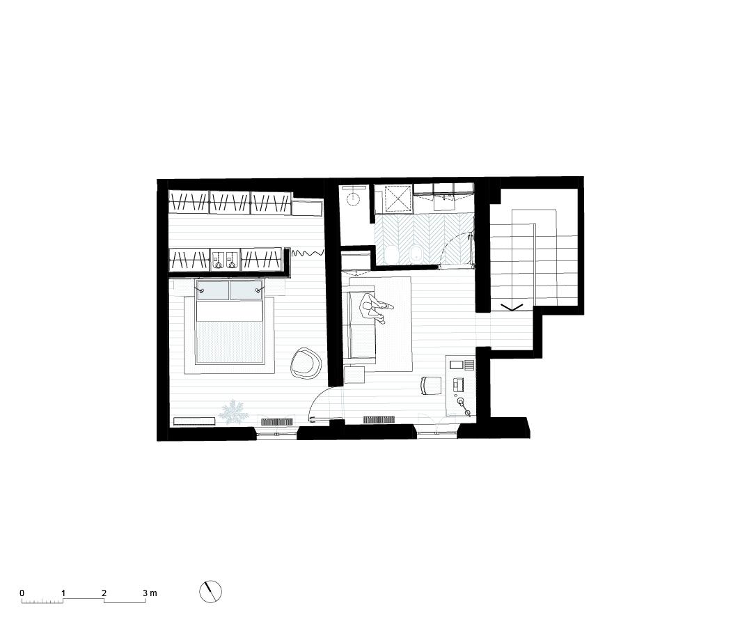House LM, Brozzi, Firenze, Deferrari+Modesti, ristrutturazione, interior, plan